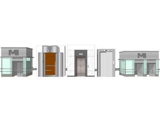 电梯门, 垂直电梯