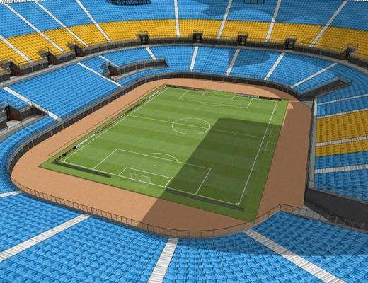 体育场, 草地, 观众席