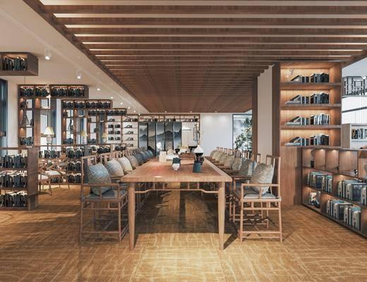 工装, 新中式书店