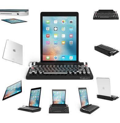 苹果平板电脑, 复古键盘, 键盘, 平板