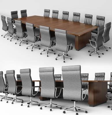现代, 会议桌, 桌子, 椅子, 单椅, 办公椅