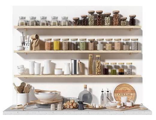 现代, 厨房, 用品, 组合