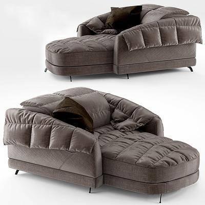 沙发, 贵妃沙发, 布艺沙发, 现代