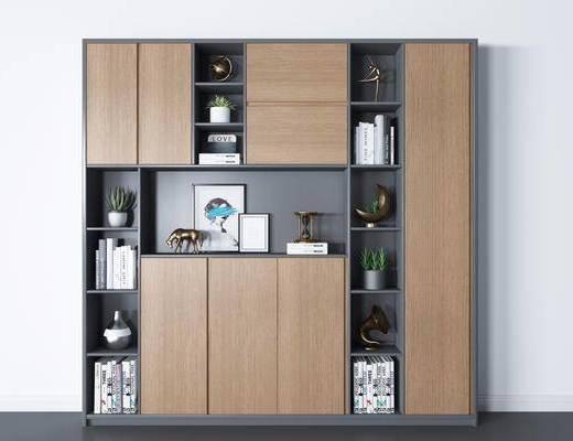 书柜, 现代书柜, 书籍