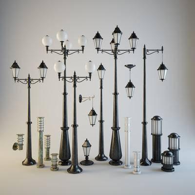 户外灯, 路灯, 矮灯, 壁灯, 现代, 欧式