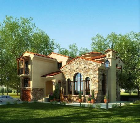 别墅, 绿植, 建筑