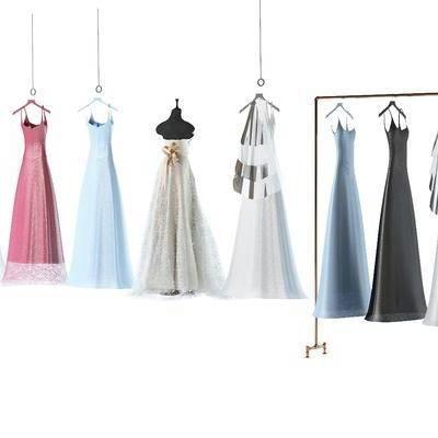 婚纱, 衣服, 连衣裙, 裙子, 现代, 衣架