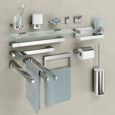 现代卫浴架毛巾浴室用品组合, 现代, 卫浴架, 毛巾架, 牙刷