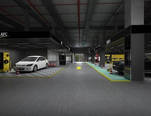 汽车4s店, 汽车组合, 现代