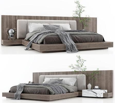 现代双人床, 床具
