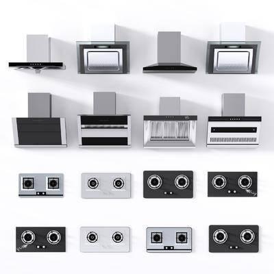 吸油烟机, 燃气灶, 抽油灯机, 天然气炉, 现代, 家用电器