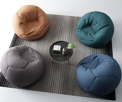 沙发, 单人沙发, 茶几