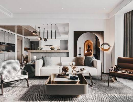 家装, 单人公寓客餐厅