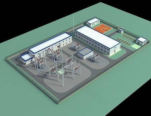发电站, 户外建筑, 工业厂房, 现代工业厂房, 现代发电站