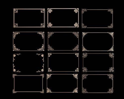 线条, 金属, 新中式线条, 角线, 新中式角线, 新中式, 镂空, 双十一