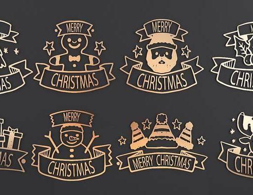 挂件, 现代挂件, 圣诞节, 墙饰, 现代