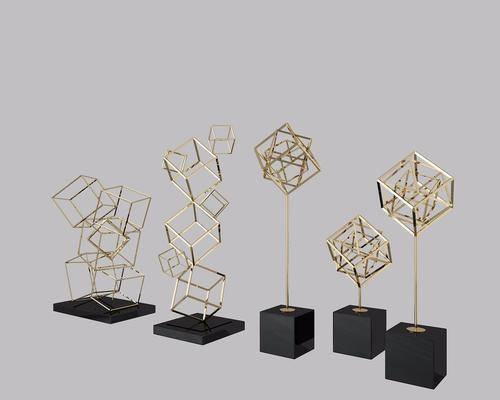 现代金属几何体摆件, 现代, 金属, 金属摆件, 现代摆件, 摆件