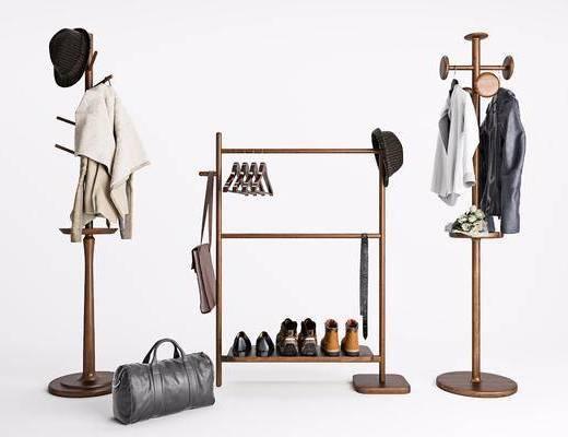 衣架, 北欧衣架, 现代, 北欧, 衣服, 帽子, 鞋子