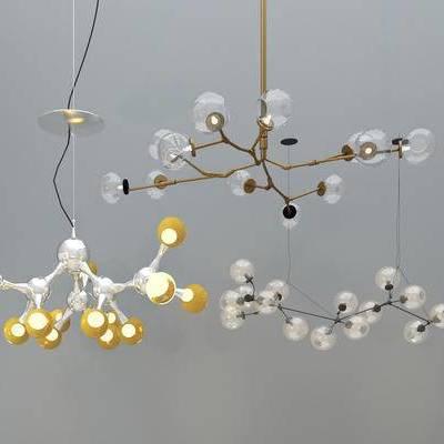 吊灯, 现代吊灯, 灯泡吊灯, 多头吊灯, 金属吊灯, 艺术吊灯, 餐厅吊灯