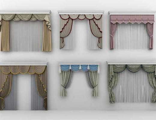 窗帘, 欧式窗帘, 欧式窗帘窗纱, 客厅窗帘, 个性窗帘, 布艺窗帘