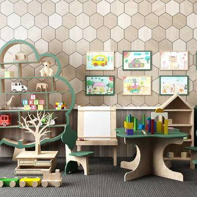 儿童早教玩具, 幼儿园玩具, 儿童桌椅, 儿童边柜, 绘画架, 玩具, 积木
