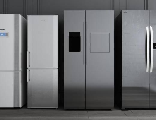 冰箱组合, 冰箱冰柜, 现代