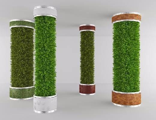 绿植, 柱子