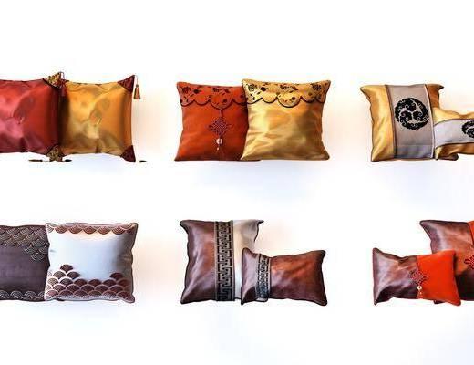 抱枕枕头, 新中式