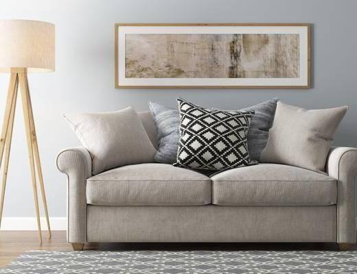 沙发组合, 现代沙发组合, 落地灯