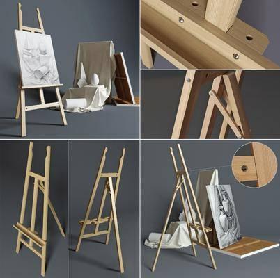花架, 画板, 几何石膏, 现代