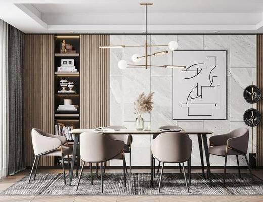 现代餐厅, 餐桌椅组合