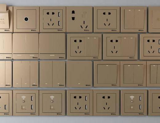 开关面板, 插座, 现代开关面板, 现代插座