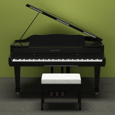 凳子, 现代, 钢琴, 乐器, 音乐