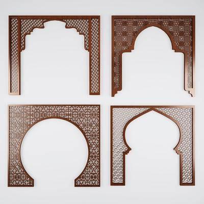 门, 门洞, 拱门, 中式, 隔断