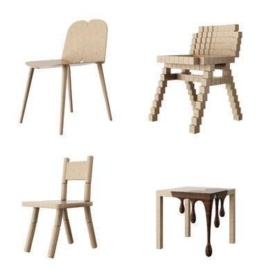 现代, 北欧, 儿童椅, 休闲椅, 单椅, 椅子