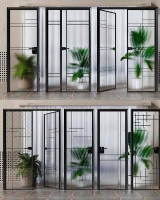 玻璃门, 双开门, 单开门