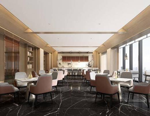 桌椅组合, 酒店, 吊灯, 摆件