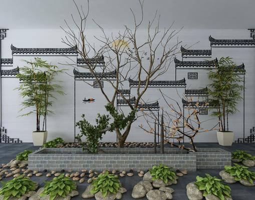 景观小品, 树木, 新中式