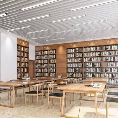 图书阅览室, 书吧, 书店, 读书室, 图书馆, 现代