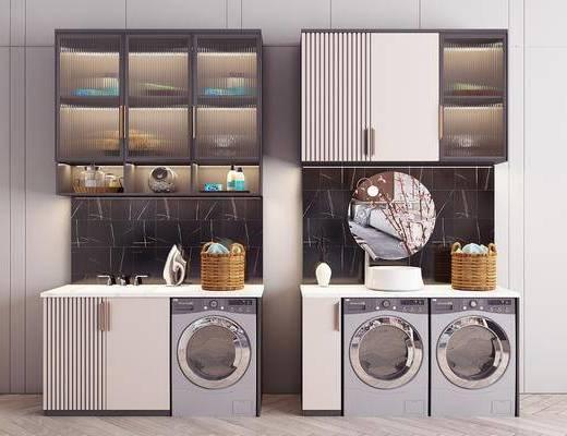 现代, 浴室柜, 阳台柜, 柜架, 组合