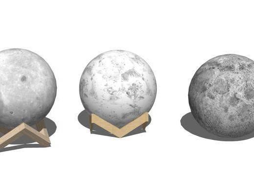 现代, 月球灯, 摆件