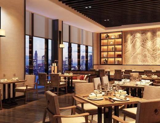 新中式餐厅, 中式餐厅, 餐厅