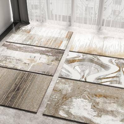 现代, 地毯, 单体
