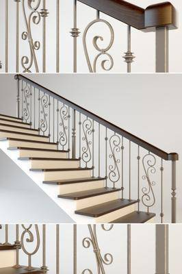 楼梯, 现代楼梯, 花纹, 扶手, 现代