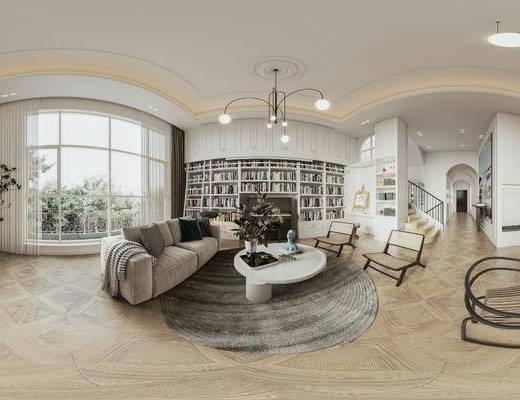 家装, 现代别墅客厅