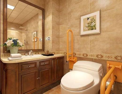 衛生間, 馬桶, 洗手臺組合, 花灑組合, 現代