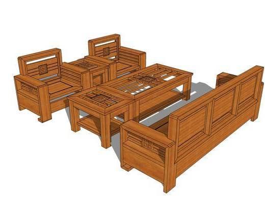 沙发组合, 茶几, 单椅