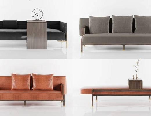 多人沙发, 摆件组合, 边几, 沙发组合