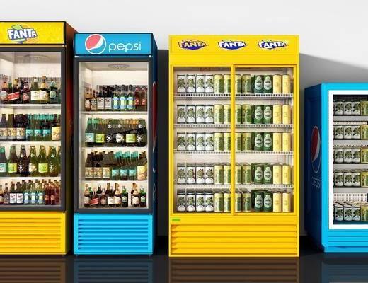 冰柜, 饮料, 现代