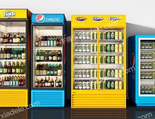 冰柜模型, 饮料组合, 现代
